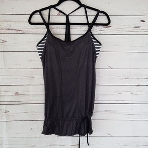 Lucy Work Out Tank Top With Built In Sport Bra